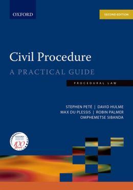 Civil Procedure: A Practical Guide