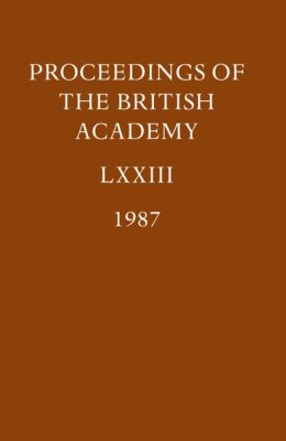 The Proceedings of the British Academy, 1987