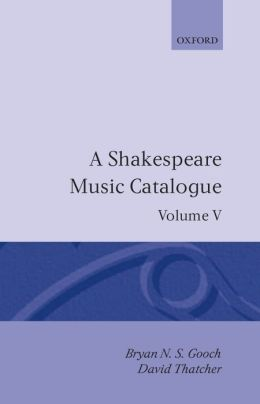 A Shakespeare Music: Bibliography