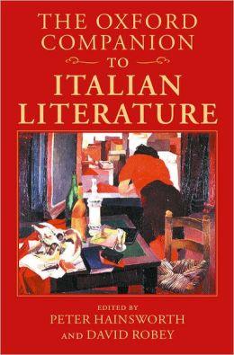 The Oxford Companion to Italian Literature