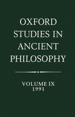 Oxford Studies in Ancient Philosophy: 1991