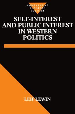 Self-Interest and Public Interest in Western Politics