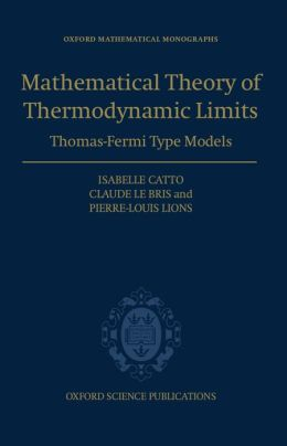 The Mathematical Theory of Thermodynamic Limits: Thomas--Fermi Type Models