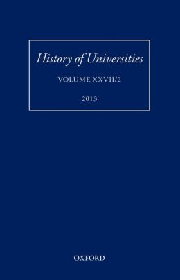 History of Universities: Volume XXVII/2