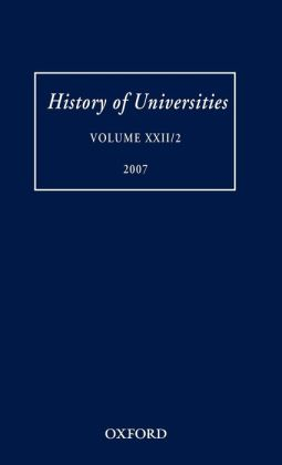 History of Universities: Volume XXII/2