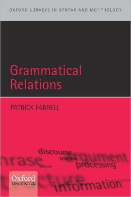 Grammatical Relations