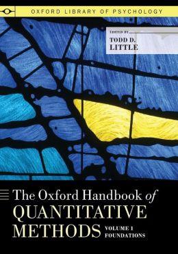 The Oxford Handbook of Quantitative Methods, Volume 1