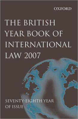 British Year Book of International Law 2007