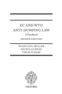 EC and WTO Anti-Dumping Law: A Handbook