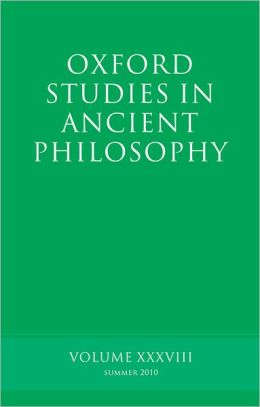 Oxford Studies in Ancient Philosophy: Volume 38