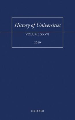 History of Universities: Volume XXV/1