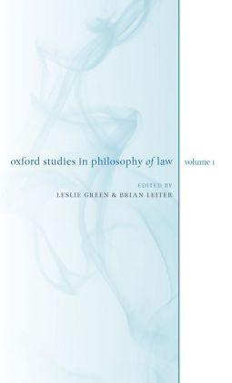 Oxford Studies in Philosophy of Law: Volume 1