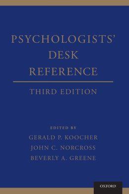 Psychologists' Desk Reference