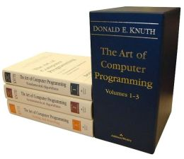 The Art of Computer Programming Volumes 1-3 Boxed Set