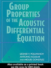 Group Properties Of The Acoustic Differential Equation