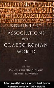 Voluntary Associations in the Graeco-Roman World