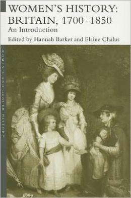Women's History, Britain 1700-1850