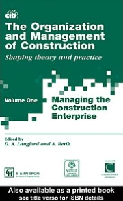 Organization and Management of Construction V1