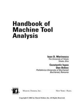 Handbook Of Machine Tool Analysis