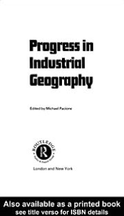 Progress in Industrial Geography