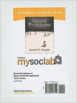 MySocLab Student Access Code Card for Social Problems (standalone)