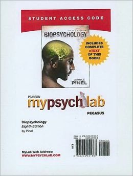 MyPsychLab Pegasus with Pearson eText Access Code Card for Biopsychology (Standalone)