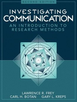 Investigating Communication: An Introduction to Research Methods