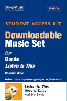 Sony Music Download Access Card for Listen to This