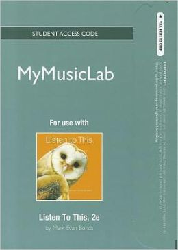 NEW MyMusicLab -- Standalone Access Card -- for Listen To This