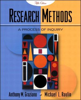 Research Methods: A Process of Inquiry (with Student Tutorial CD-ROM)