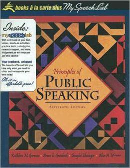 Priciples of Public Speaking