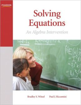 Solving Equations: An Algebra Intervention
