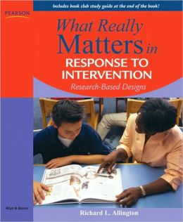 Response to Intervention: Research-Based Designs