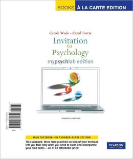 Invitation to Psychology: Myspychlab Edition