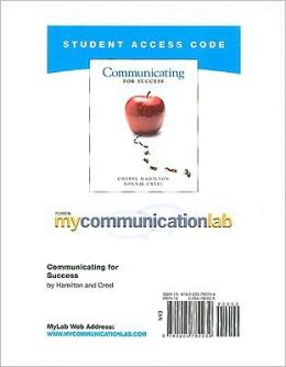 MyCommunicationLab Student Access Code Card for Communicating for Success (standalone)