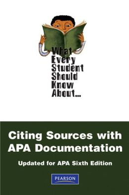 What Every Student Should Know About Citing Sources with APA Documentation