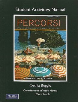 Student Activities Manual for Percorsi: L'Italia attraverso la lingua e la cultura