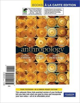 Anthropology, Books a la Carte Edition