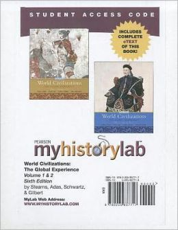 MyHistoryLab Student Access Code Card with Pearson eText for World Civilizations, Volumes 1 or 2 (standalone)