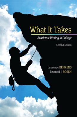 What it Takes: Academic Writing in College