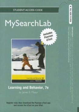 MySearchLab with Pearson eText -- Standalone Access Card -- for Learning and Behavior