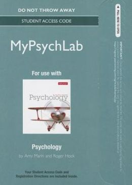 NEW MyPsychLab -- Standalone Access Card -- for Psychology