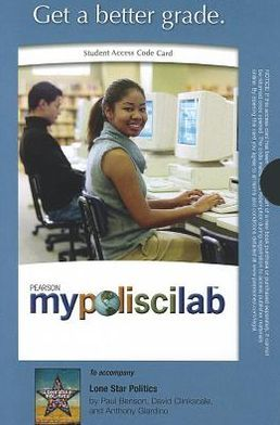 MyPoliSciLab -- Standalone Access Card -- for Lone Star Politics
