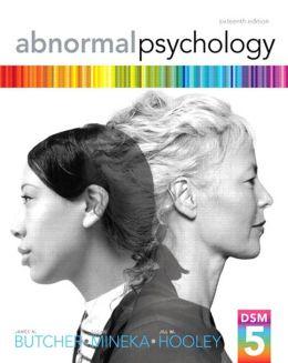 Abnormal Psychology, 16/e