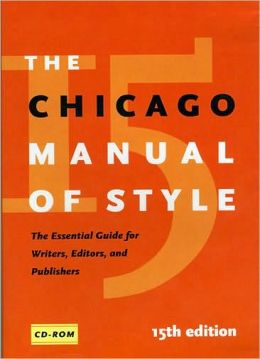 The Chicago Manual of Style, 15th Edition: CD-ROM for Windows