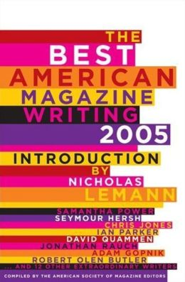 The Best American Magazine Writing, 2005