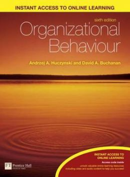 Organizational Behaviour: An Introductory Text