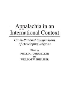 Appalachia in an International Context: Cross-National Comparisons of Developing Regions
