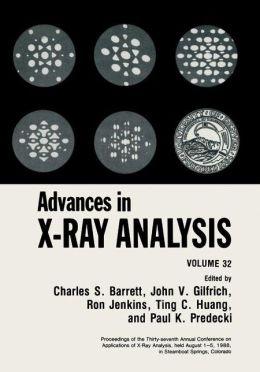Advances in X-Ray Analysis: Volume 32
