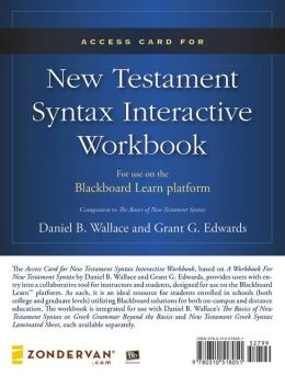 Access Card for New Testament Syntax Interactive Workbook: For Use on the Blackboard Learn Platform